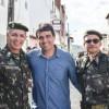 PREFEITO ADRIANO LIMA, SECRETÁRIOS E DEMAIS AUTORIDADES MUNICIPAIS RECEPCIONAM COMANDANTE DA SEXTA REGIÃO MILITAR